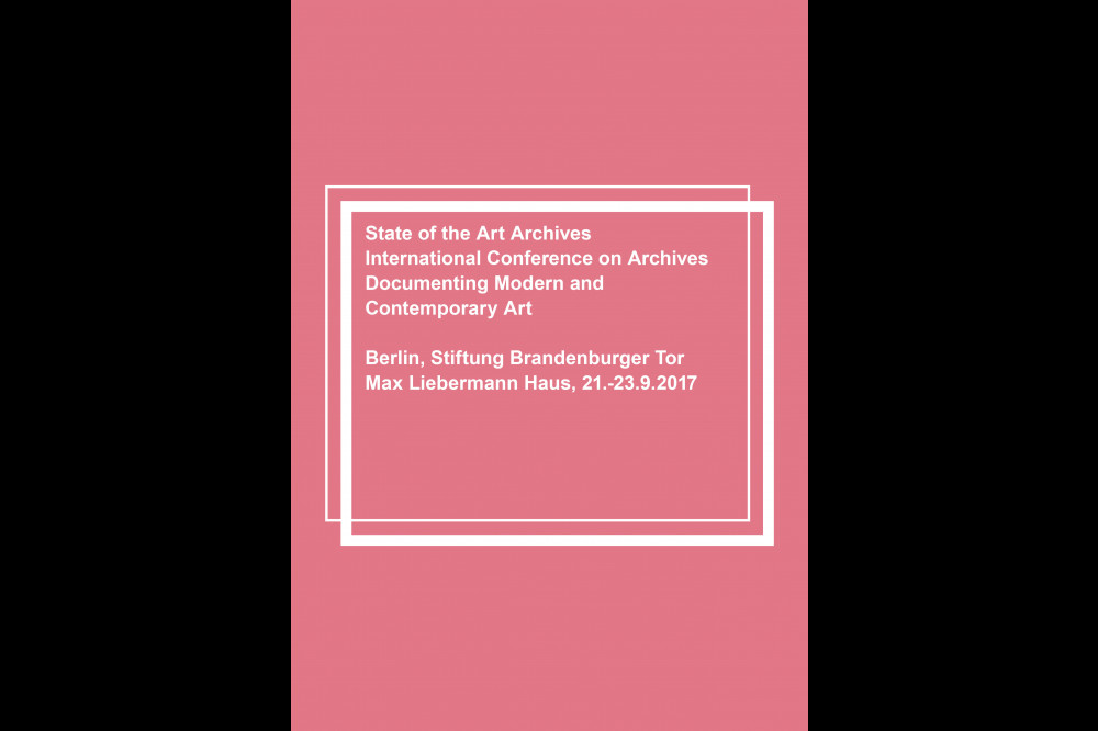 Announcement for State of the Art Archives